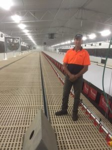 Chris Olson with Potters Poultry AVINEST system