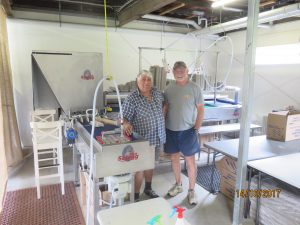 Riva Selegg Technician, Guido Cristofoli, with Eumundi Egg and Feather owner, John Hendry.