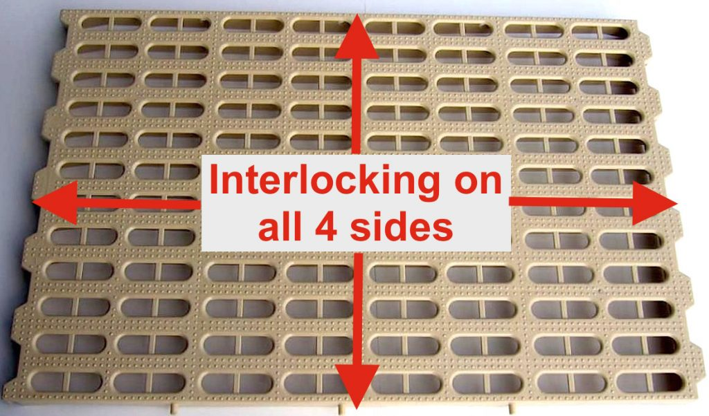 Potters Poultry plastic interlocking slats