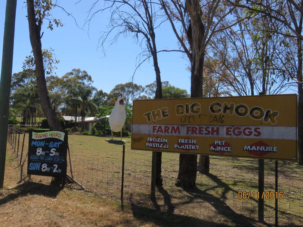 Signage outside The Big Chook premises